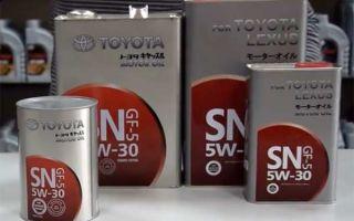 Масло Тойота 5w30: основные отличия в обозначениях на канистрах