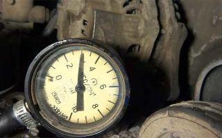 Давление масла в двигателе – контроль, проверка