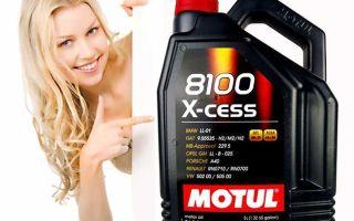 Моторное масло Motul 5W-40 8100 X-cess: характеристики и допуски