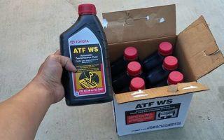 Toyota ATF WS – американское масло для японских АКПП