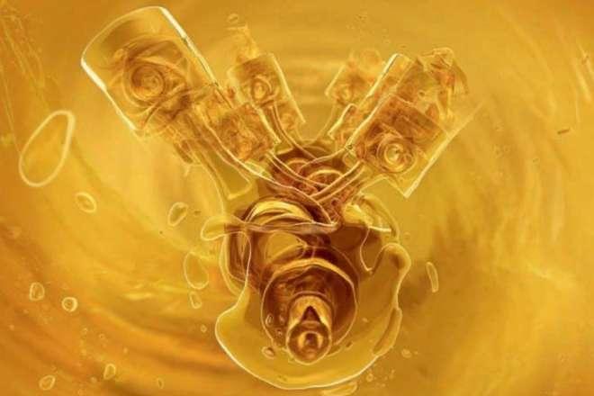 работа двигателя в масляной ванне