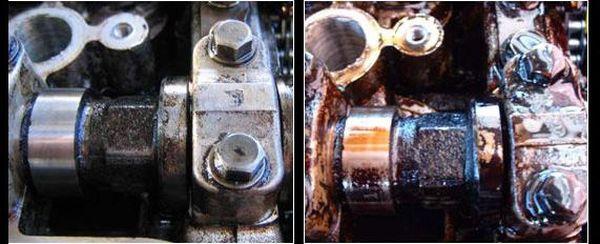 двигатель до промывки и после