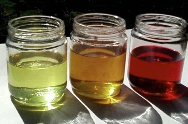 три вида жидкости для ГУР отличаются цветом