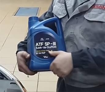 рекомендованное масло Hyundai ATF SP III