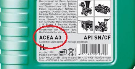обозначение ACEA