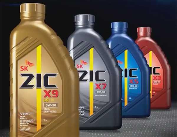 Ряд моторных масел ZIC