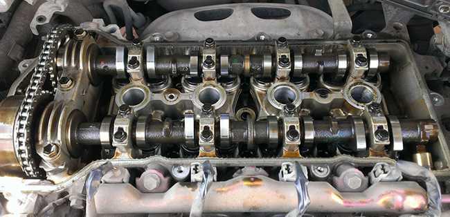 Промытый двигатель