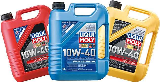 Моторные масла liqui moly 10w 40