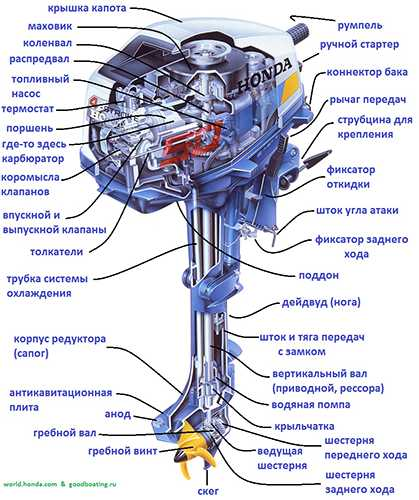 устройство лодочного мотора