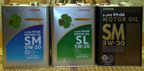 Масла Тойота выпускаемые в Японии