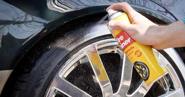 смазываем шины силиконовой смазкой