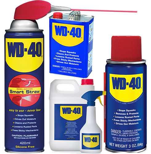 wd-40 в различной упаковке