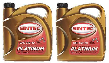 моторное масло Sintec Platinum