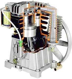 воздушный компрессор с механическим приводом
