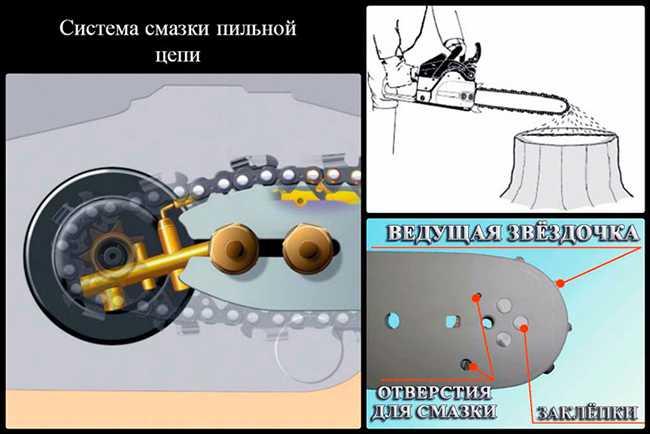 Один из вариантов системы смазки пильной цепи