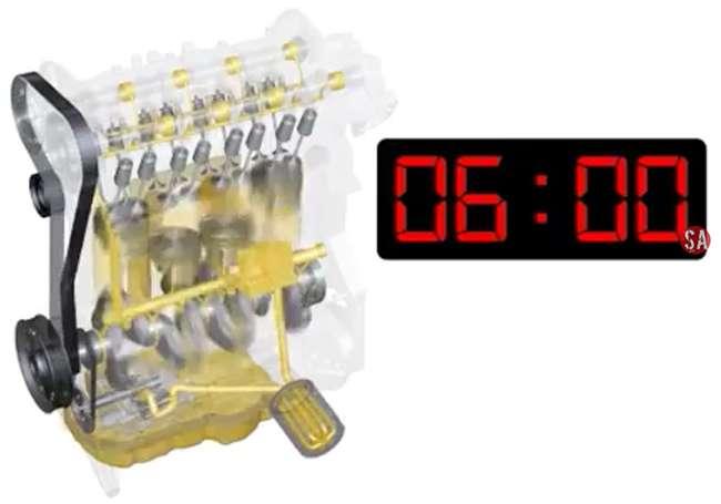 время заполнения двигателя смазкой 6 минут
