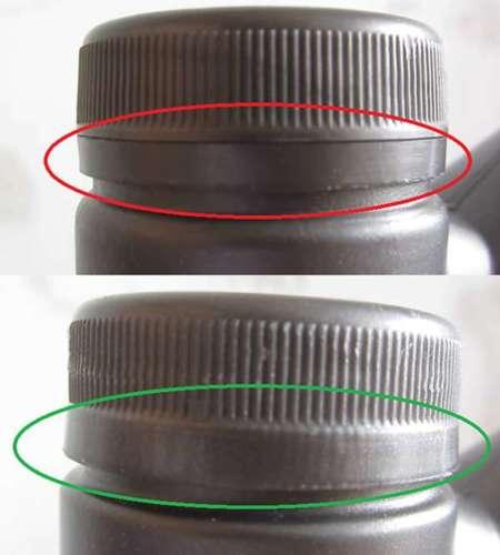Кольцо крышки оригинала и подделки