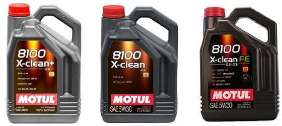 Варианты масел X-clean