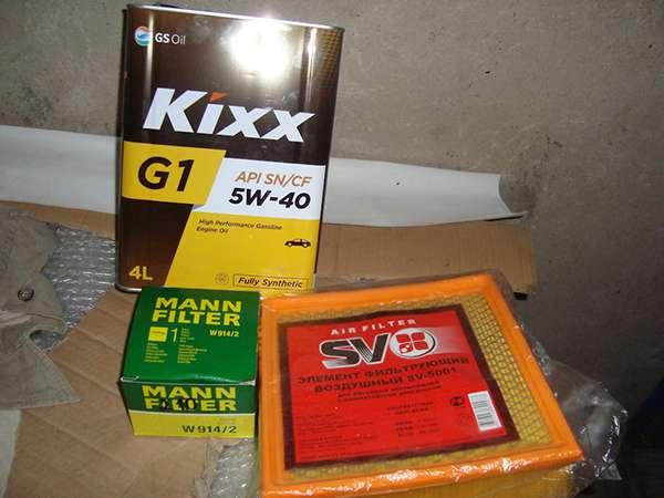 масло кикс 5w40 и ремкомплект