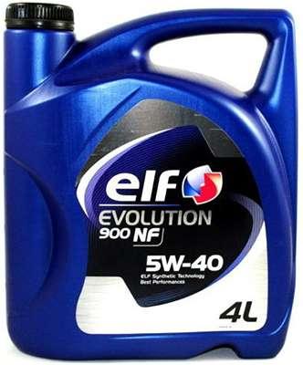 elf 5w40 evolution 900 nf 4 литра