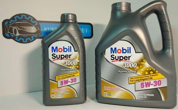 Mobil super 3000 xe 5w 30 в литровой и 5-ти литровой канистрах