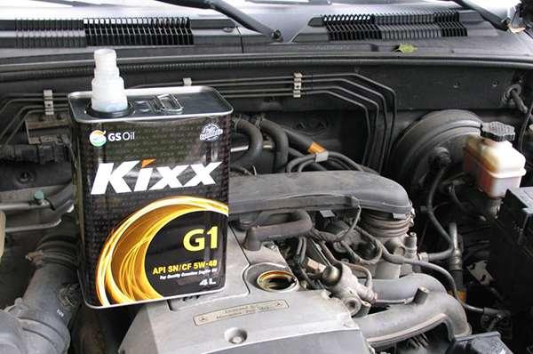 Kixx G1 5w40 замена масла