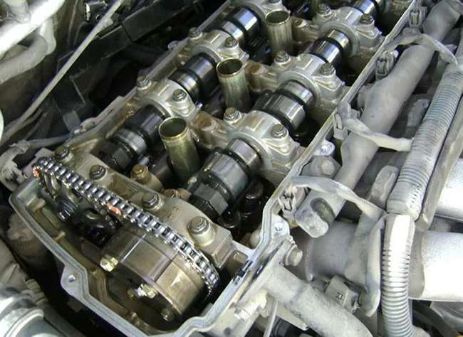 Чистый двигатель после работы mobil 1 fs 5w 30