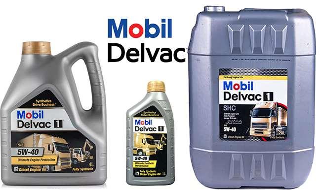 Mobil Delvac 1 5W40 в разной расфасовке