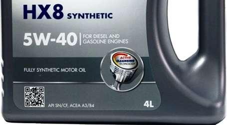 надпись на этикетке Fully Synthetic Motor Oil