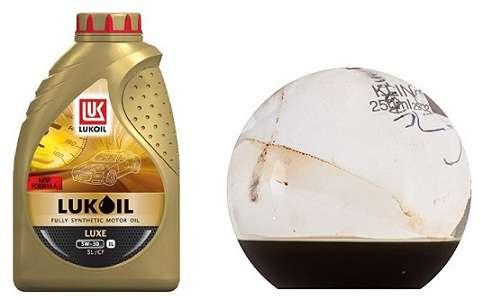 образец нагретого масла Лукойл