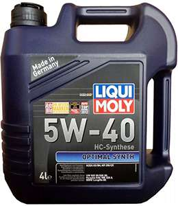 моторное масло Liqui Moly Optimal Synth 5w 40