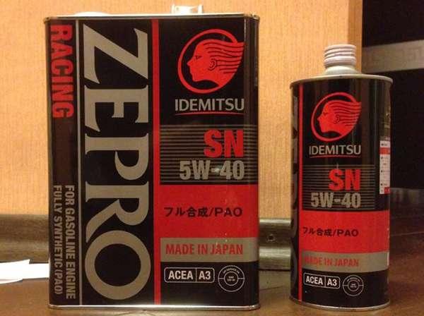 idemitsu zepro racing 5w 40 в жестяной банкке