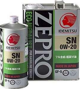 idemitsu zepro eco medalist 0w 20 в таре 1 и 4 литра