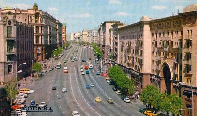 интенсивность движения в Москве