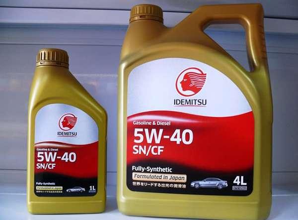 Масло Идемитсу 5w-40 в разных канистрах