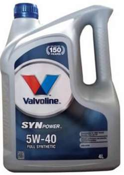 Valvoline synpower 5w40 характеристики